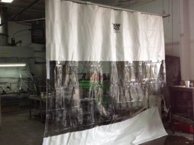 Industrial Curtain Wall Repair at Auto Shop - Dallas, TX