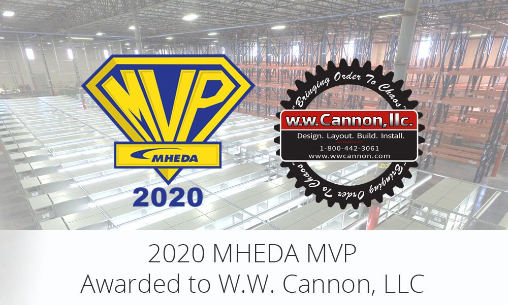 2020 MHEDA MVP Awarded to W.W. Cannon, LLC in Dallas TX for 6th Year In A Row