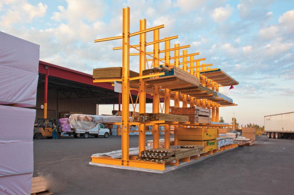 Cantilever Rack for Lumber Yard