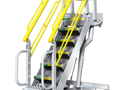 Adjustable Stairs with Work Platform